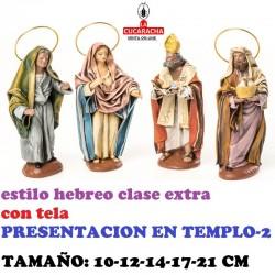 Figuras Belen Estilo Hebreo clase extra con tela-PRESENTACION EN EL TEMPLO 10-12-14-17-21 CM