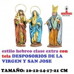 Figuras Belen Estilo Hebreo clase extra con tela-2-DESPOSORIOS DE LA VIRGEN 10-12-14-17-21 CM