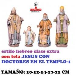 Figuras Belen Estilo Hebreo clase extra con tela-1-JESUS CON DOCTORES EN EL TEMPLO 10-12-14-17-21 CM