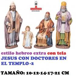 Figuras Belen Estilo Hebreo clase extra con tela-JESUS CON DOCTORES EN EL TEMPLO 10-12-14-17-21 CM