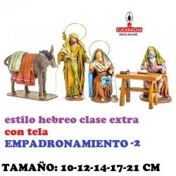 Figuras Belen Estilo Hebreo clase extra con tela-2-EMPADRONAMIENTO 10-12-14-17-21 CM