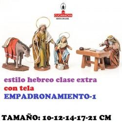 Figuras Belen Estilo Hebreo clase extra con tela-1-EMPADRONAMIENTO 10-12-14-17-21 CM