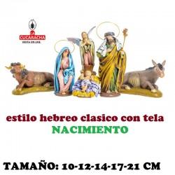 Figuras Belen Estilo Hebreo tradicional con tela NACIMIENTOS 10-12-14-17-21cm