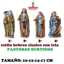 Figuras Belen Estilo Hebreo tradicional con tela-PASTORES SURTIDOS 10-12-14-17cm