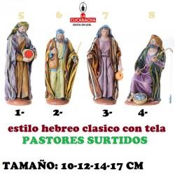 Figuras Belen Estilo Hebreo tradicional con tela-2-PASTORES SURTIDOS 10-12-14-17cm