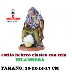 Figuras Belen Estilo Hebreo tradicional con tela HILANDERA 10-12-14-17cm