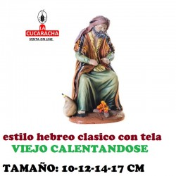 Figuras Belen Estilo Hebreo tradicional con tela VIEJO 10-12-14-17cm