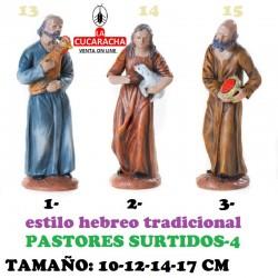 Figuras Belen Estilo Hebreo tradicional-4-PASTORES SURTIDOS 10-12-14-17cm