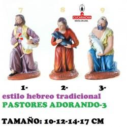 Figuras Belen Estilo Hebreo tradicional-3-PASTORES ADORANDO 10-12-14-17cm