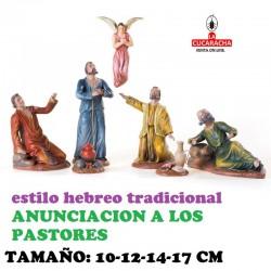 Figuras Belen Estilo Hebreo tradicional ANUNCIACION A LOS PASTORES 10-12-14-17cm
