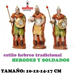 Figuras Belen Estilo Hebreo tradicional HERODES Y SOLDADOS 10-12-14-17cm