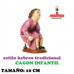 Figuras Belen Estilo Hebreo tradicional CAGON INFANTIL 10cm