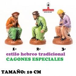Figuras Belen Estilo Hebreo tradicional CAGONES ESPECIALES 10cm