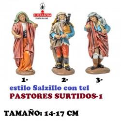 Figuras Belen Estilo Salzillo con tela-1-PASTORES SURTIDOS 14-17cm