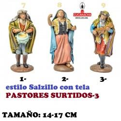 Figuras Belen Estilo Salzillo con tela-3-PASTORES SURTIDOS 14-17cm