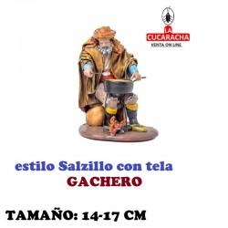 Figuras Belen Estilo Salzillo con tela Grupo GACHERO 14 y 17 cm