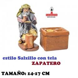 Figuras Belen Estilo Salzillo con tela Grupo ZAPATERO 14 y 17 cm