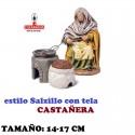 Figuras Belen Estilo Salzillo con tela Grupo CASTAÑERA 14 y 17 cm