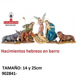 Nacimientos Estilo Hebreo barro 14 Y 25 cm