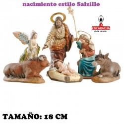 Nacimientos Estilo Salzillo Especial-2- en barro 16-18-20-21-27 cm