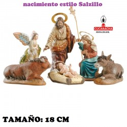 Nacimientos Estilo Salzillo Especial-2- en barro 18 cm