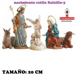 Nacimientos Estilo Salzillo Especial-3- en barro 20 cm