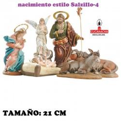 Nacimientos Estilo Salzillo Especial-4- en barro 21 cm