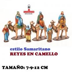 Figuras Belen Estilo Samaritano REYES EN CAMELLO 7-9-12 cm