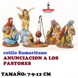 Figuras Belen Estilo Samaritano ANUNCIACION A LOS PASTORES 7-9-12 cm