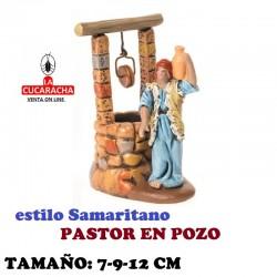 Figuras Belen Estilo Samaritano PASTOR EN POZO 7-9-12 cm