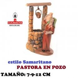 Figuras Belen Estilo Samaritano PASTORA EN POZO 7-9-12 cm