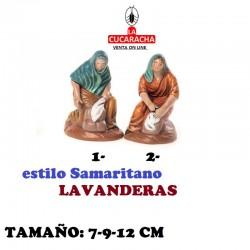 Figuras Belen Estilo Samaritano LAVANDERAS 7-9-12 cm