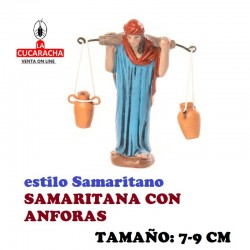 Figuras Belen Estilo Samaritano SAMARITANA CON ANFORAS 7-9 cm