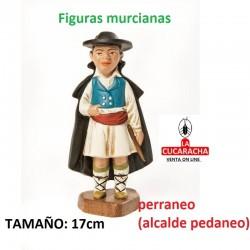 Figuras Murcianas Tradicionales ALCALDE PERRANEO 17 CM