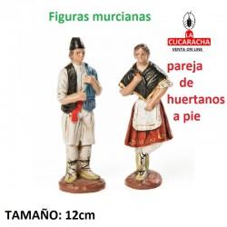 Figuras Murcianas Tradicionales PAREJA HUERTANOS DE PIE 12 CM