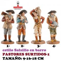 Figuras Belen Estilo Salzillo en barro-1-PASTORES SURTIDOS 9-16-18 CM