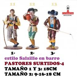 Figuras Belen Estilo Salzillo en barro-4-PASTORES SURTIDOS 9-16-18 CM
