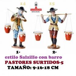 Figuras Belen Estilo Salzillo en barro-5-PASTORES SURTIDOS 9-16-18 CM