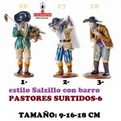 Figuras Belen Estilo Salzillo en barro-6-PASTORES SURTIDOS 9-16-18 CM