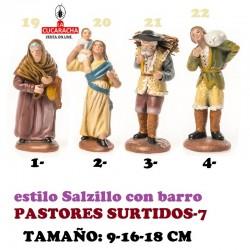 Figuras Belen Estilo Salzillo en barro-7-PASTORES SURTIDOS 9-16-18 CM