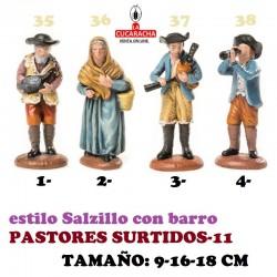 Figuras Belen Estilo Salzillo en barro-11-PASTORES SURTIDOS 9-16-18 CM