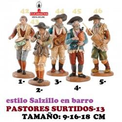 Figuras Belen Estilo Salzillo en barro-13-PASTORES SURTIDOS 9-16-18 CM