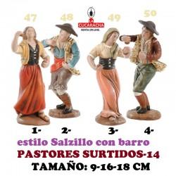 Figuras Belen Estilo Salzillo en barro-14-PASTORES SURTIDOS 9-16-18 CM