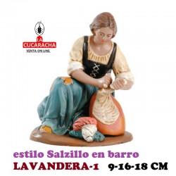 Figuras Belen Estilo Salzillo en barro LAVANDERAS 9-16-18 CM.