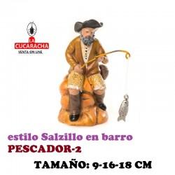 Figuras Belen Estilo Salzillo en barro- GRUPO PESCADOR 9-16-18 CM.