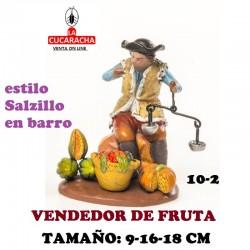 Figuras Belen Estilo Salzillo en barro Grupos-10-PASTOR VENDIENDO FRUTA 9-16-18 CM
