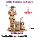 Figuras Belen Estilo Salzillo en barro Grupos-21-LEÑADORES 9-16-18 CM