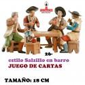 Figuras Belen Estilo Salzillo en barro Grupos-26-JUEGO DE CARTAS 18 CM