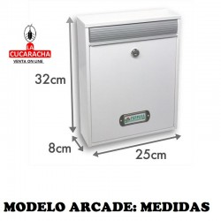 Buzon Exterior Modelo Arcade 32X8X25cm. 13 modelos