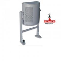 PAPELERA EXTERIOR RHIN SEMI ACERO 375X450X187 MM termolacada